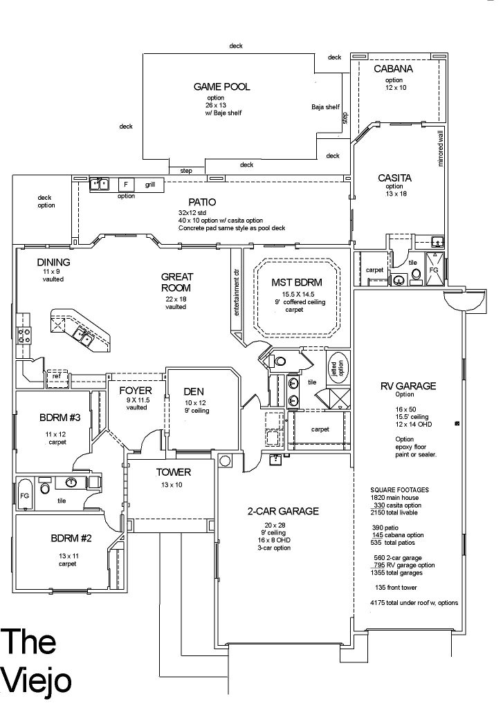 Viejo - 2 Car with RV Option - DBU Homes on roof addition framing plans, single story blueprints, single story office, single detached house, three bedroom cabin plans, building plans, single story garages, single story open floor, diy swing set plans, three story home plans, attached garage addition plans, townhouse plans, single story building, single floor house designs, modern home design plans, single wide mobile home plans, garden bench plans, single story architecture, single story timber framed houses,